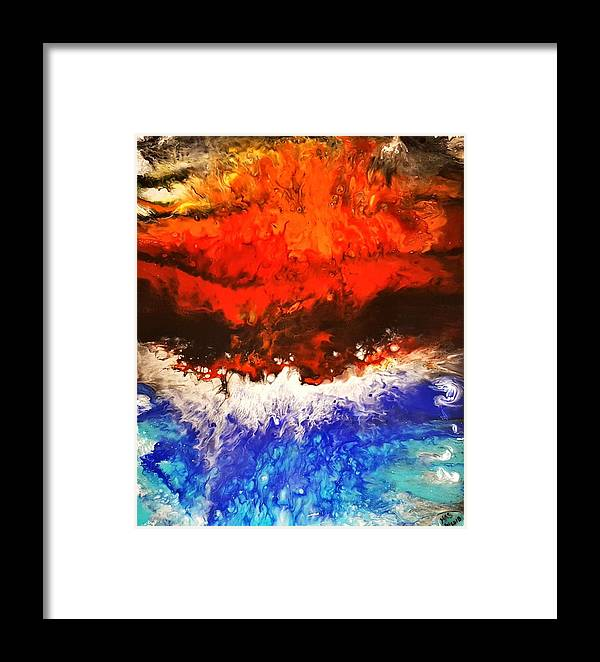 Nature Framed Print featuring the mixed media Diverging by Kathleen Saunders