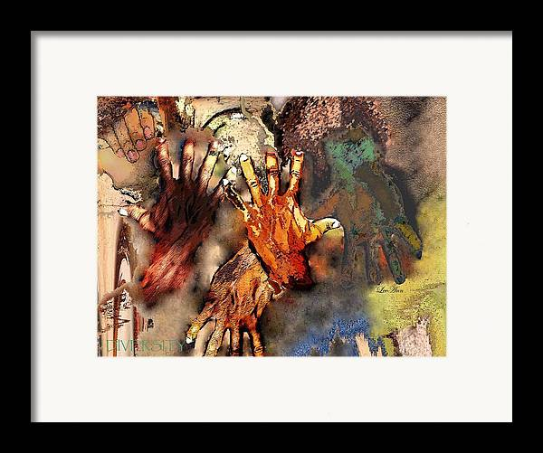 Abstract Framed Print featuring the photograph Diversity by LeeAnn Alexander