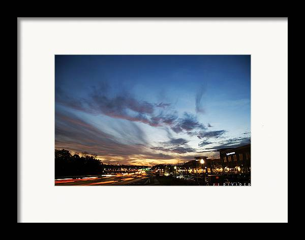 Sky Framed Print featuring the photograph Divided by Jonathan Ellis Keys