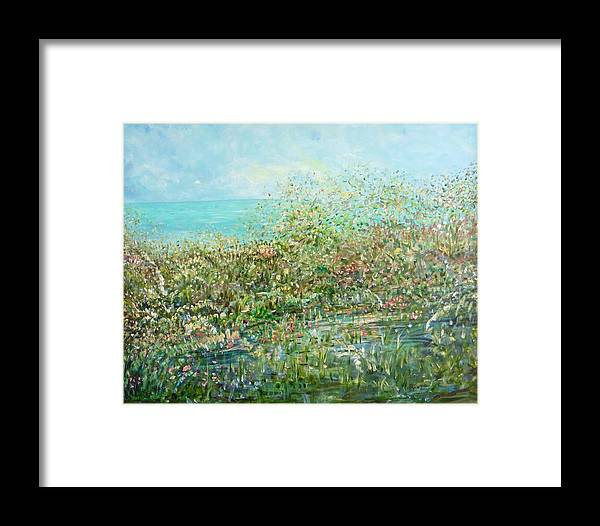 Inspirational Landscape Framed Print featuring the painting Divine Design by Sara Credito