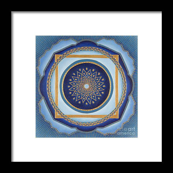 Mandala Framed Print featuring the painting Divine Feminine - Cathedral Series by Charlotte Backman