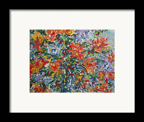 Painting Framed Print featuring the painting Divine Happiness. by Leonard Holland