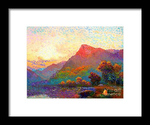 Meditation Framed Print featuring the painting Buddha Meditation, Divine Light by Jane Small