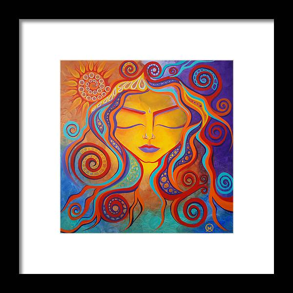Abstract Framed Print featuring the painting Divine Transcendence by Michelle Oravitz