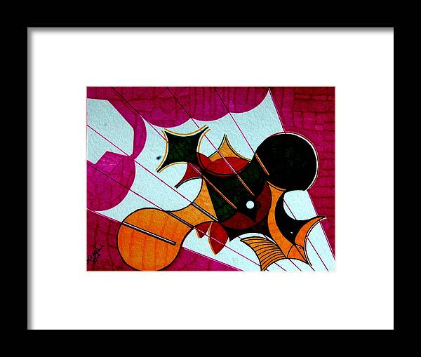 Op Framed Print featuring the painting Diving Birds by Willie McNeal