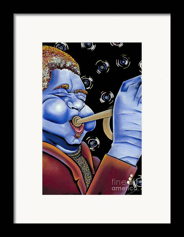 Portrait Framed Print featuring the painting Dizzy by Nannette Harris