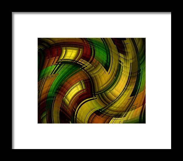 Dizzy Framed Print featuring the digital art Dizzy Plaid by Terry Mulligan