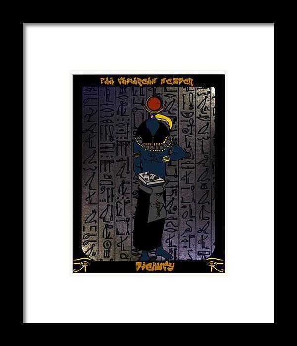 Djehuty Framed Print featuring the digital art Djehuty by Derrick Colter