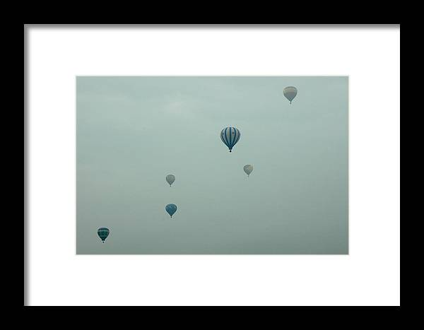 Adirondack Balloon Festival Mist Flight Framed Print featuring the photograph Dnrg0908 by Henry Butz