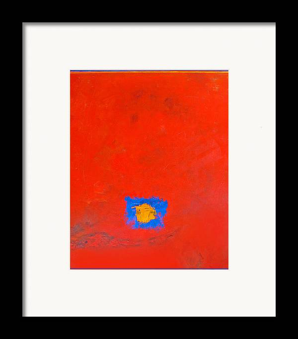 Abstract Framed Print featuring the painting Do It Yourself by Dale Witherow