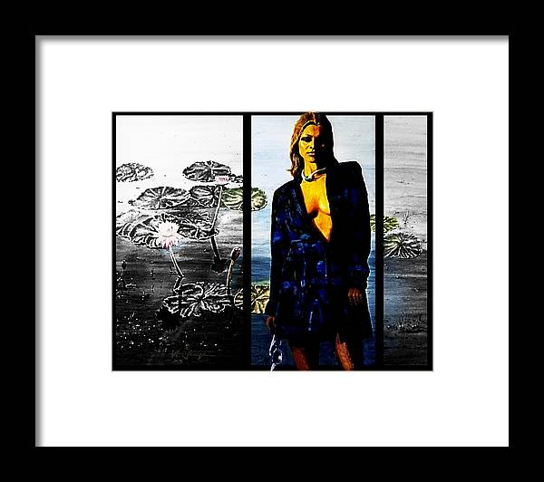 Woman Framed Print featuring the painting Do Not Color Me Gray by Hartmut Jager
