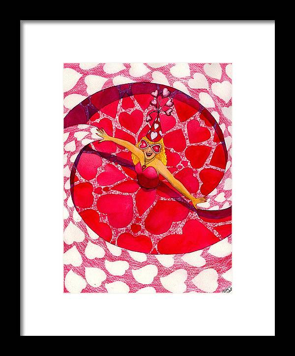 Valentine Framed Print featuring the painting Do You Like My Hat by Catherine G McElroy