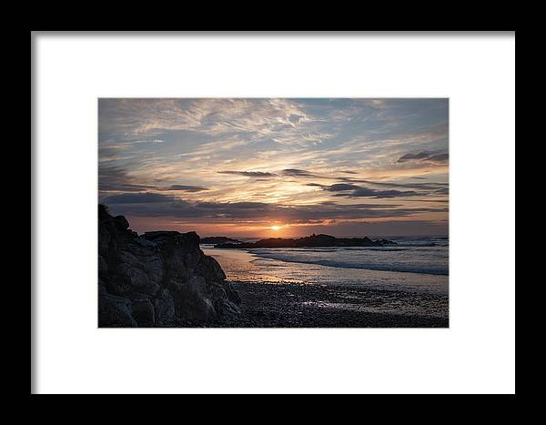 Sunset Framed Print featuring the photograph Doagh Island Sunset 3 by Sharon Williams