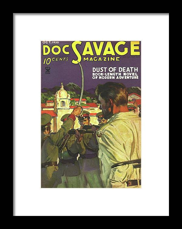 Comic Framed Print featuring the drawing Doc Savage Dust Of Death by Conde Nast