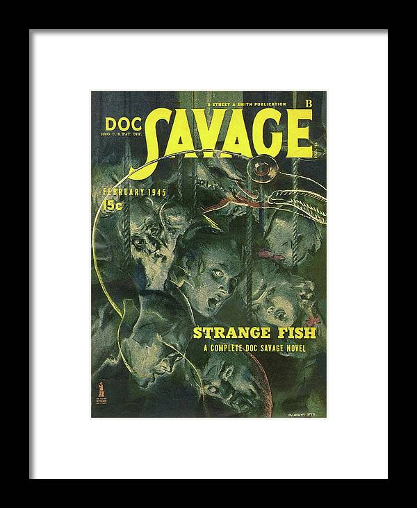 9daae412 Comic Framed Print featuring the drawing Doc Savage Strange Fish by Conde  Nast