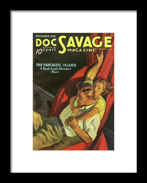 Comic Framed Print featuring the drawing Doc Savage The Fantastic Island by Conde Nast