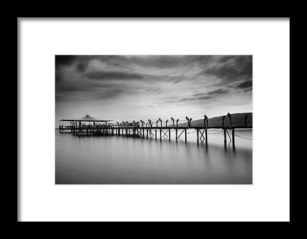 Dock Framed Print featuring the photograph Dock At Autumn by Dogukan Benli