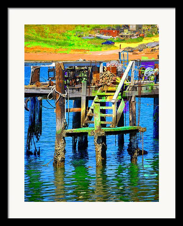 Framed Print featuring the digital art Dock by Danielle Stephenson