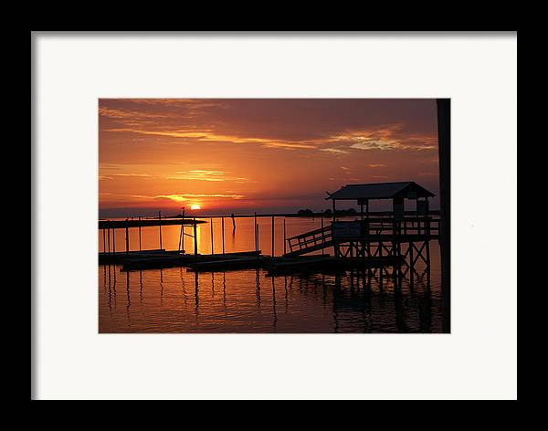 Dock Framed Print featuring the photograph Dock Of The Bay by Debbie May