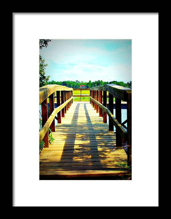 Landscape Framed Print featuring the photograph Dock On Alston Creek by Jill Tennison