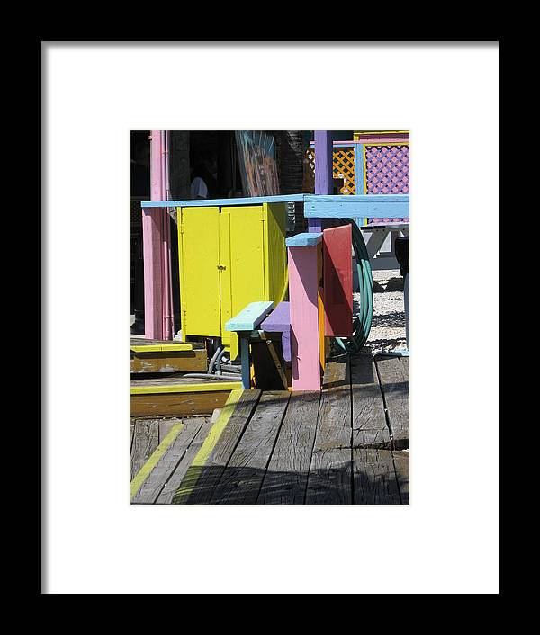 Color Framed Print featuring the photograph Dock Paradise by Nancy Ippolito