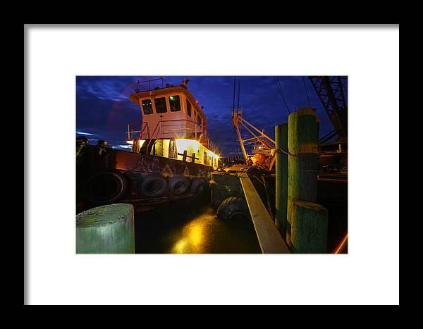 Dock Framed Print featuring the photograph Dock Side by Robert Och
