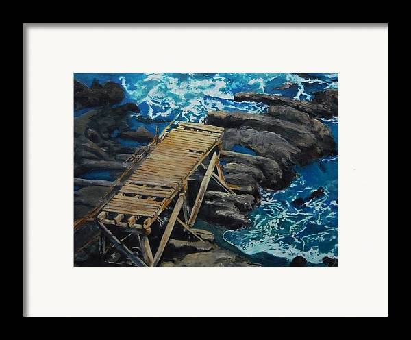Dock Framed Print featuring the painting Dock by Travis Day