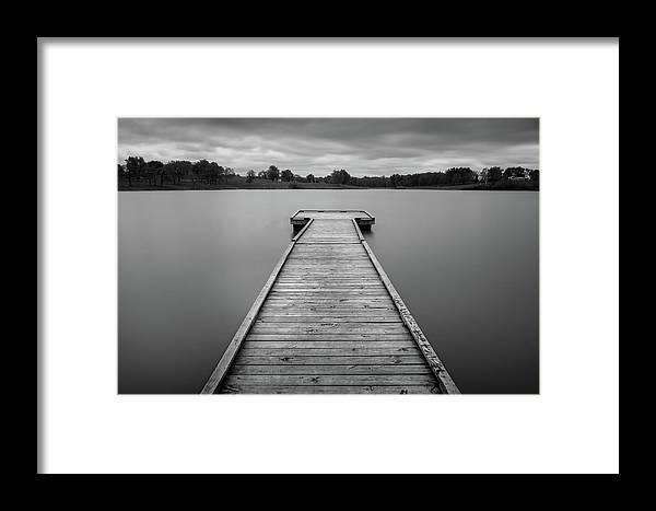 Black And White Framed Print featuring the photograph Docked by Mark McDaniel