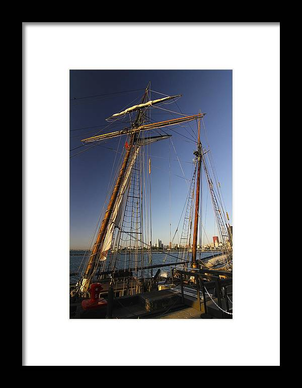 Tall Ship Framed Print featuring the photograph Docked Tall Ship by Sven Brogren