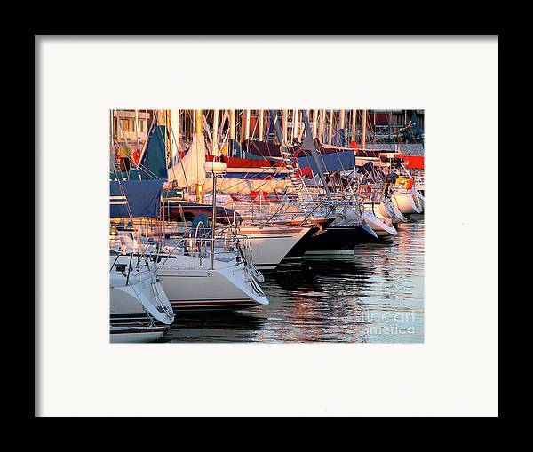 Anchor Framed Print featuring the photograph Docked Yatchs by Carlos Caetano