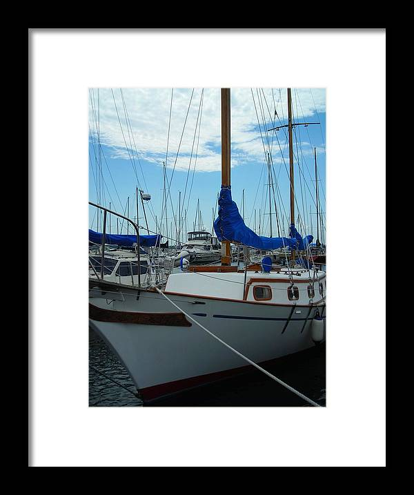 Boat Framed Print featuring the photograph Docking Bay by Peter Mowry