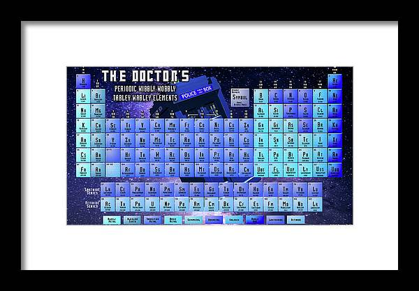 Doctor Who Periodic Table Of Elements Framed Print By Spencer Bawden