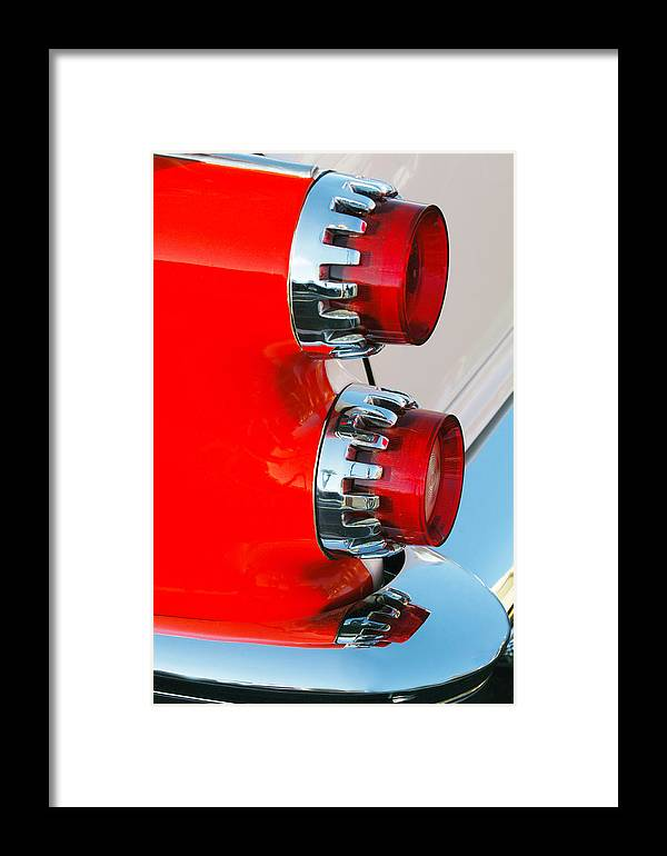 Car Framed Print featuring the photograph Dodge Coronet Taillight by Jill Reger