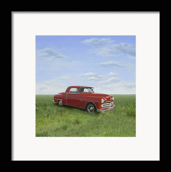 Classic Framed Print featuring the painting Dodge by Patricia Van Lubeck