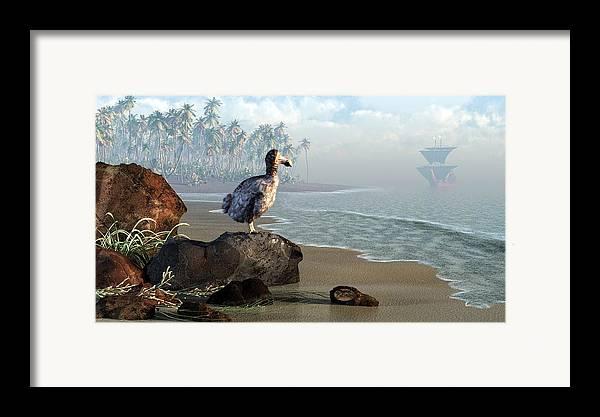 Dodo Framed Print featuring the digital art Dodo Afternoon by Daniel Eskridge