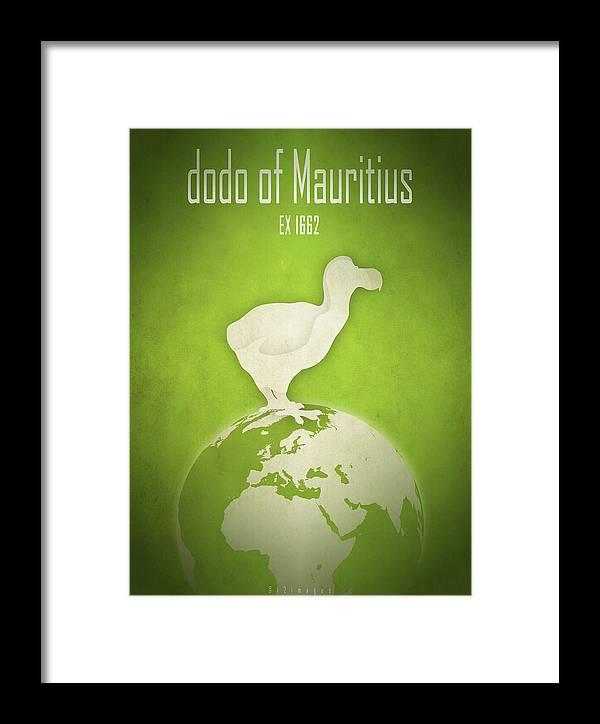 Dodo Framed Print featuring the digital art Dodo Of Mauritius by Moira Risen