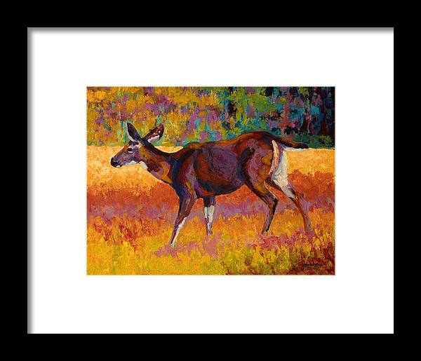 Deer Framed Print featuring the painting Doe IIi by Marion Rose
