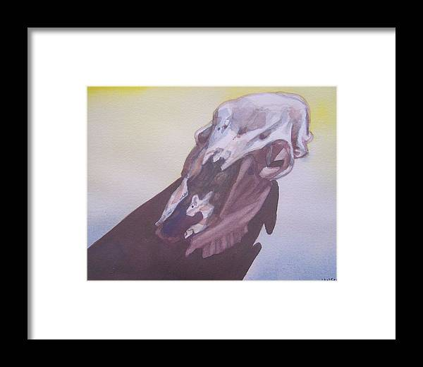 Bones Framed Print featuring the painting Doe Shadow by Jane Hanson