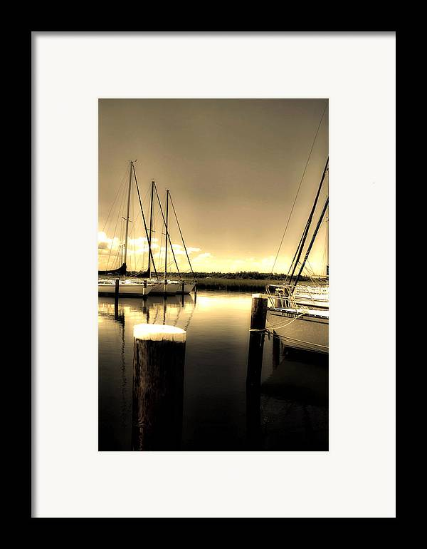 Mobile Al Framed Print featuring the photograph Dog River Marina by Gulf Island Photography and Images