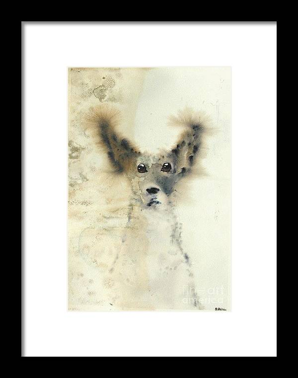 Dog Framed Print featuring the painting dog by Sarah Goodbread