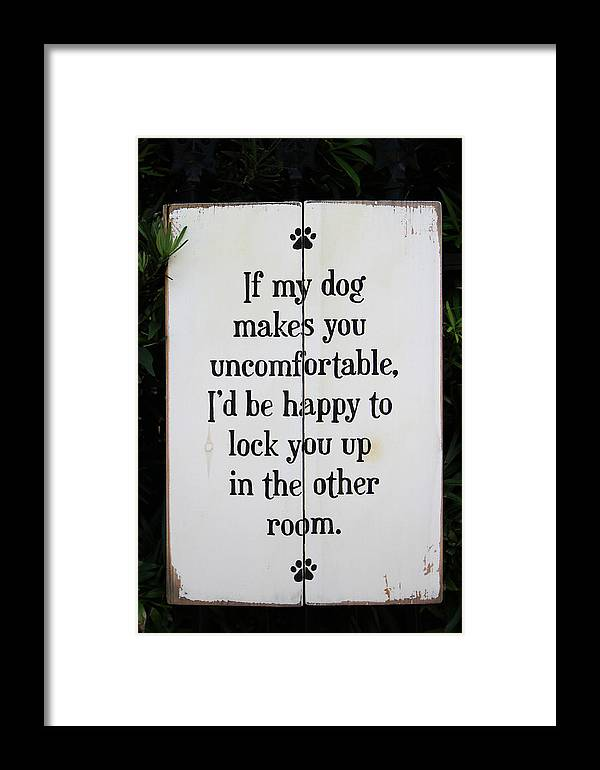 Pet Framed Print featuring the photograph Dog Smart by Juergen Roth