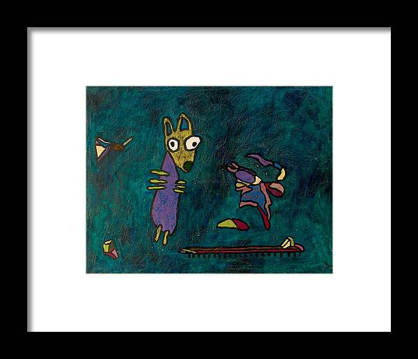 Abstract Framed Print featuring the painting Dogged Days by Jacob Stempky