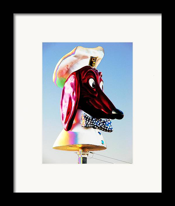 Doggie Framed Print featuring the photograph Doggie Diner Sign by Samuel Sheats