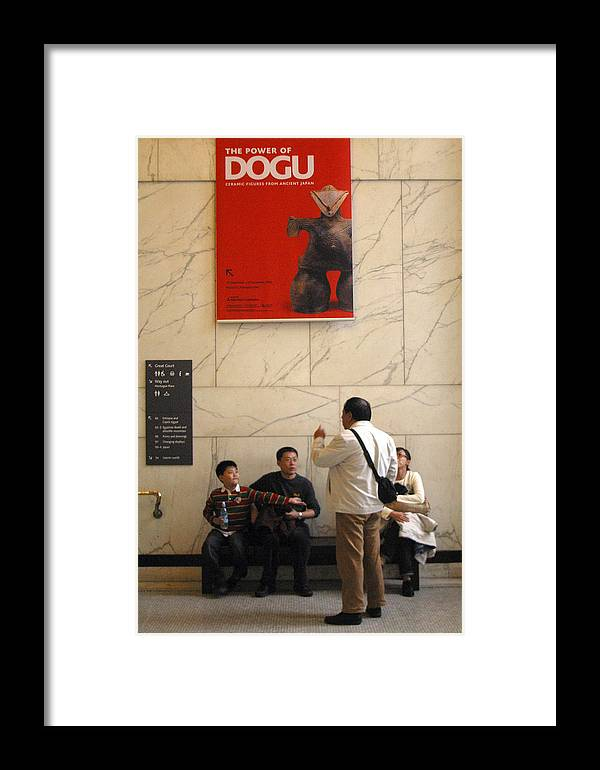 Jez C Self Framed Print featuring the photograph Dogu Up by Jez C Self