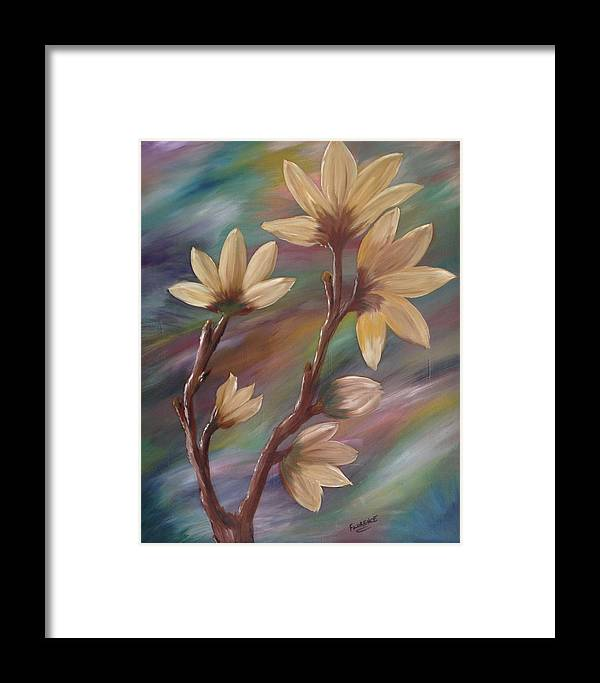 Dogwood Framed Print featuring the painting Dogwood Dance by Florence Ferrandino