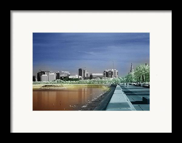 Doha Framed Print featuring the photograph Doha Corniche In Infra-red by Paul Cowan