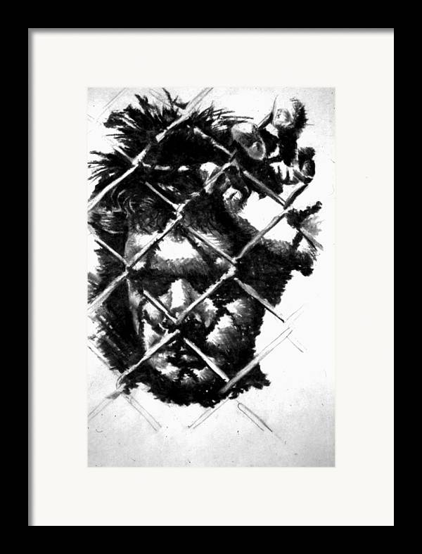 Depressed Man Framed Print featuring the drawing Doing My Time by Arshaad Norwood