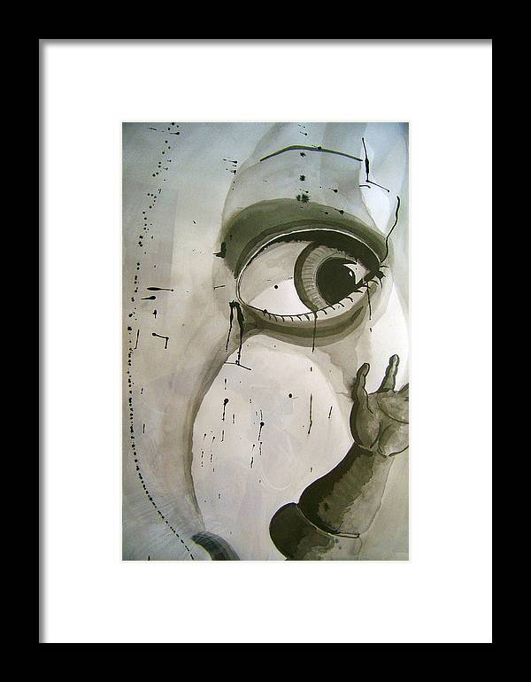 Doll Parts Framed Print featuring the drawing Doll Parts 1 by Robert Hofmann