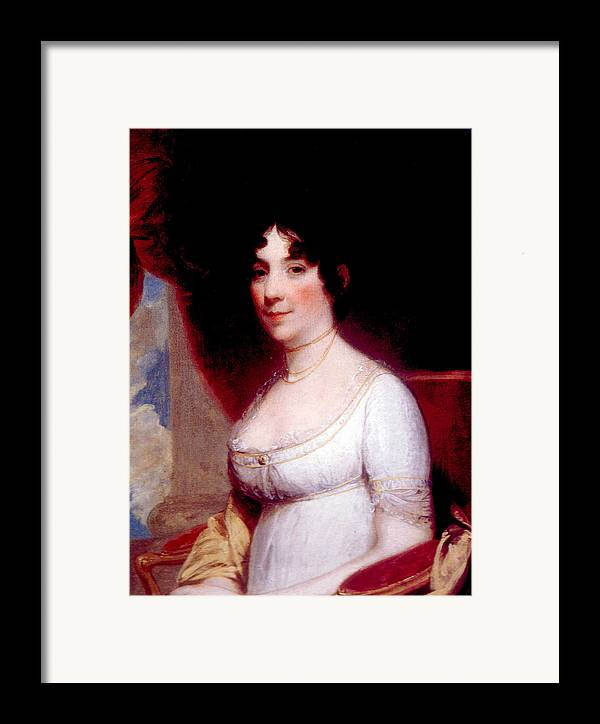 First Lady Framed Print featuring the photograph Dolley Madison 1768-1849, First Lady by Everett