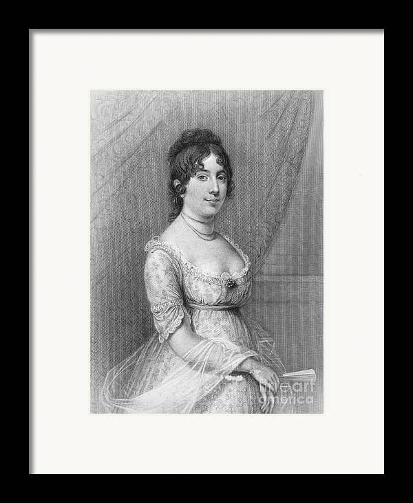 19th Century Framed Print featuring the photograph Dolley Madison (1768-1849) by Granger